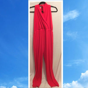 Size XL Venus Jumpsuit Bright Red Stretchy